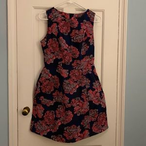 Topshop Floral Fit and Flare dress